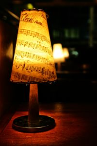 Lighted musical notes