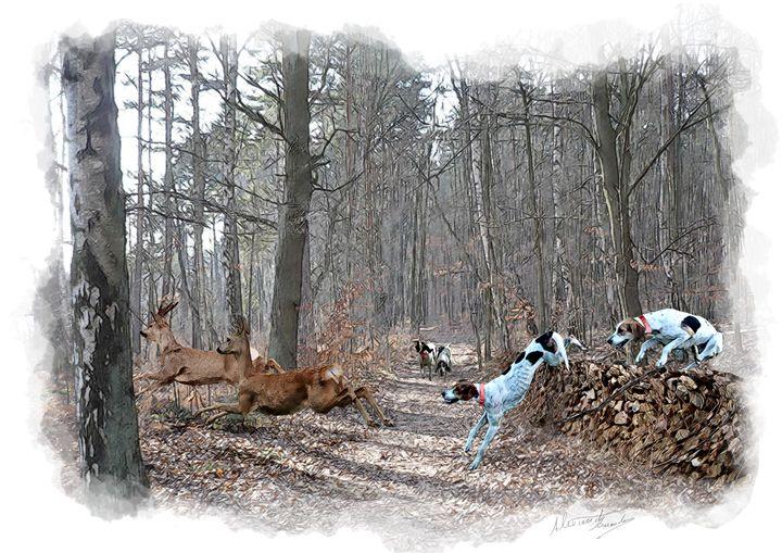 Roe deer - Alexwildlifeart