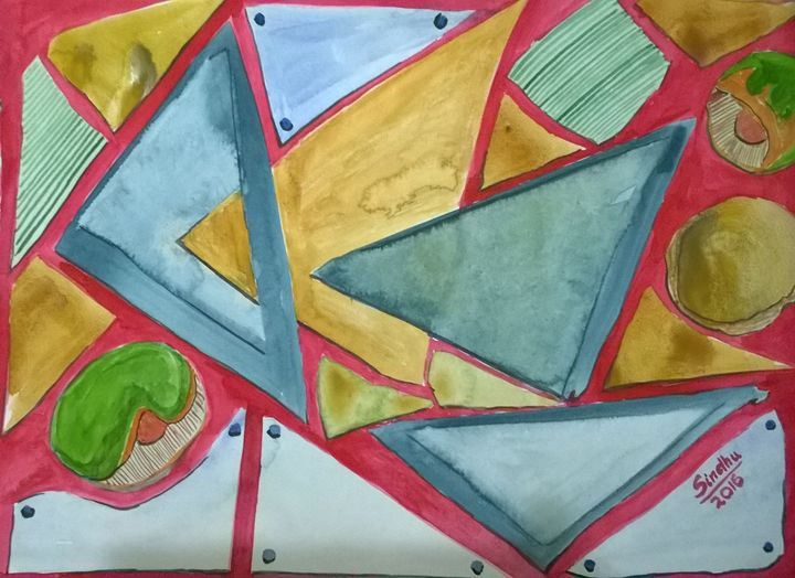 Triangles and other shapes - Sindhu's Paintings