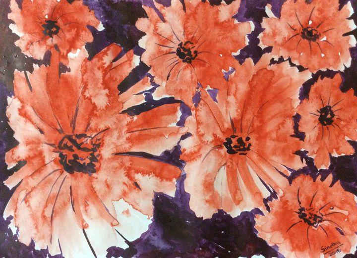 Simply red - 2 - Sindhu's Paintings