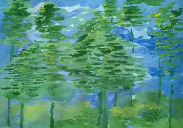 Blues and greens - Sindhu's Paintings