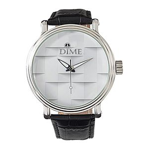 WHITE 3-D DIME TIMEPIECE WRISTWATCH - Dizzy The Artist Fine Art & Accessories