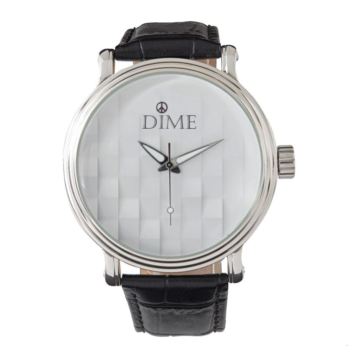 3-D DIME TIMEPIECE WRISTWATCH - Dizzy The Artist Fine Art & Accessories