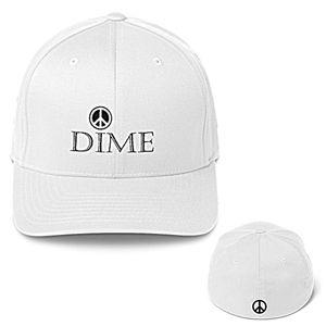 Red Sm.-Med. Dime Baseball Cap - Dizzy The Artist Fine Art & Accessories