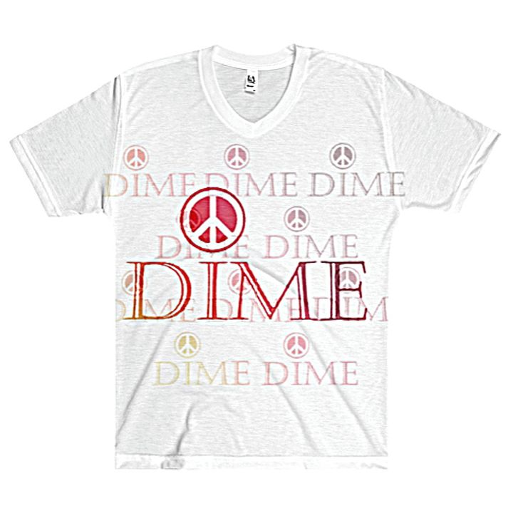 Dime Men's V-Neck #003351 - Dizzy The Artist Fine Art & Accessories