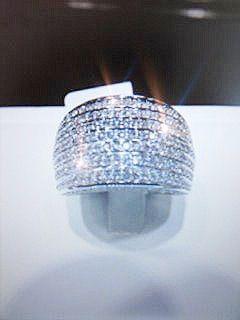 14k White Gold Diamond Ring #009311 - Dizzy The Artist Fine Art & Accessories