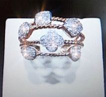 14k Rose Gold Diamond Ring #007701 - Dizzy The Artist Fine Art & Accessories