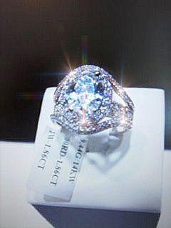 14k White Gold Diamond Ring #005501 - Dizzy The Artist Fine Art & Accessories