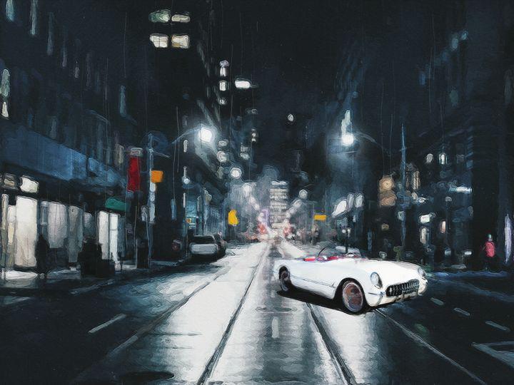 1954 Corvette in the dark - kloobik