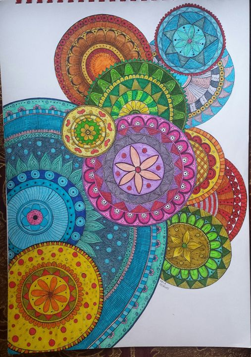 Colorful Mandalas - Hala Sherif