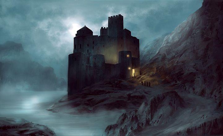 Moon Castle - Digital Artwork