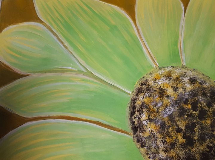 Lime green daisy - Jessica's Art