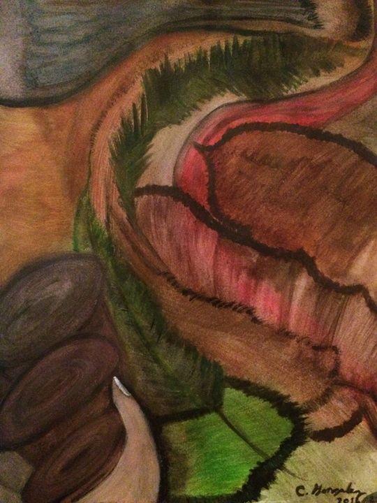 """HOLDING ON TO A CHESNUT"" - C.Gonzalez Art Gallery"