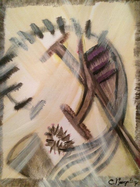 """ NAILS CARRYING ONE MANS PAIN"" - C.Gonzalez Art Gallery"
