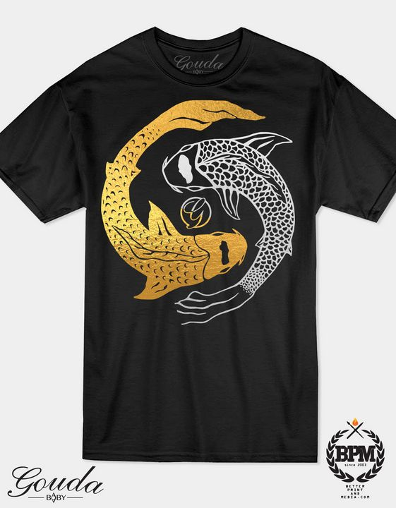 YinCoi Gold and Silver Foil T Shirt - Goudababy