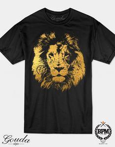 Gold Foil Lion Goundababy T shirt