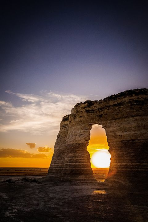Sunset Through Monument Rock - Jeb McConnell