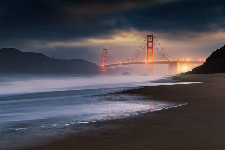 Golden Gate Bridge Stormy Sunrise - Jeb McConnell