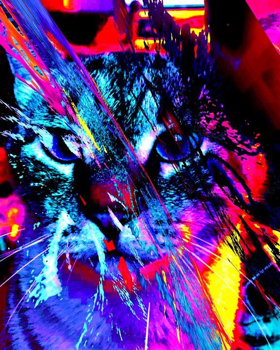 Bc cat 0166 - BC Cats Art