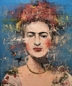 Frida Kahlo Freestyle Painting