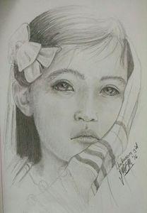Portrid of a young girl - Tlachinoihuitl Yoe