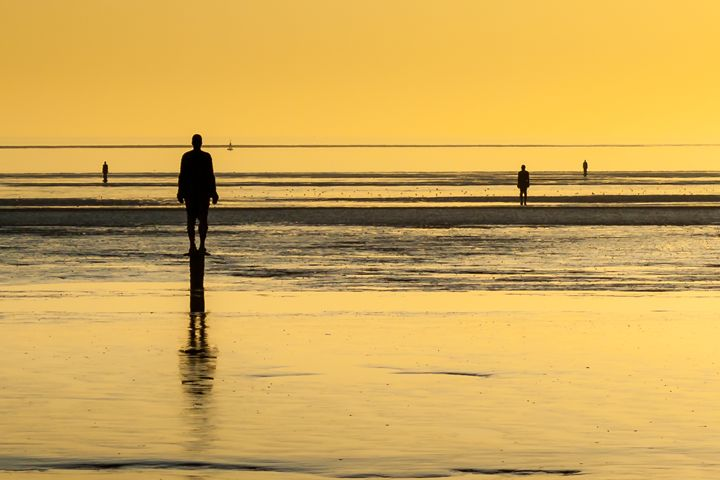 Crosby Beach Statues at Sunset - Andy McGarry Photo