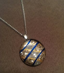 Art To Wear Blue KrissKross Necklace