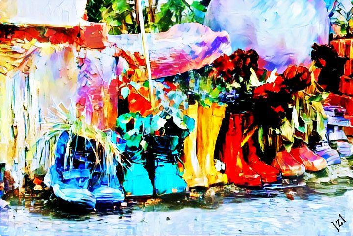 Parade Of Rain Boots - Artists Korner