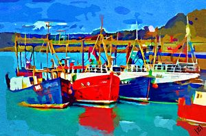 The Fishing Fleet - J LeBrun Studio