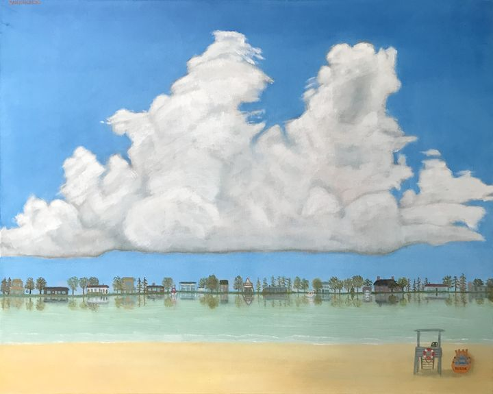 LAKEFRONT - Leslie Dannenberg, Oil Paintings