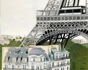 PARIS TREASURE - Leslie Dannenberg, Oil Paintings