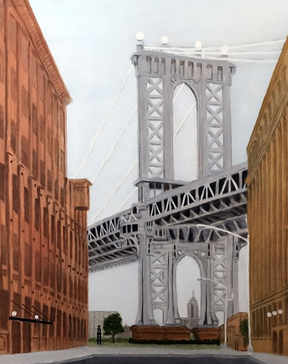 MANHATTAN BRIDGE - Leslie Dannenberg, Oil Paintings