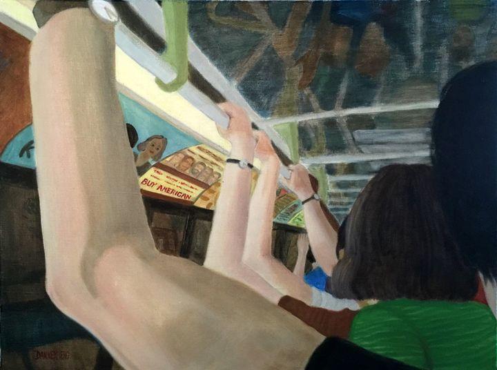 RAIL HANGERS - Leslie Dannenberg, Oil Paintings