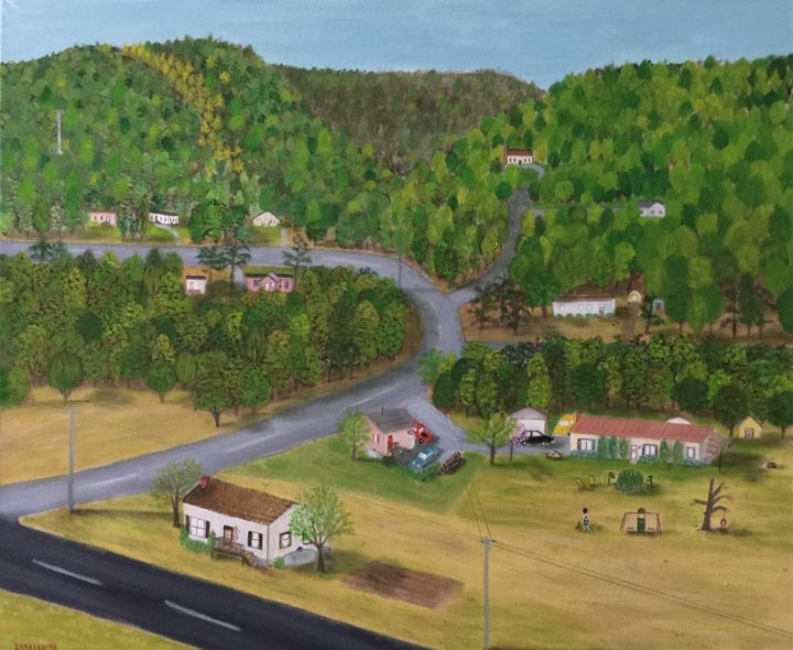 CHEROKEE NORTH CAROLINA, SPRING - Leslie Dannenberg, Oil Paintings