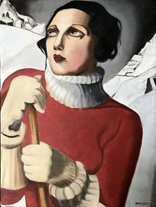 THE SKIER  (AFTER LEMPICKA)