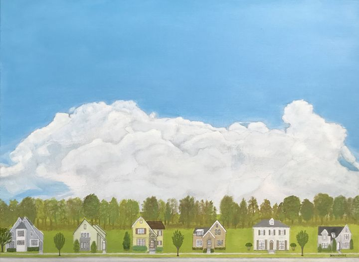 BEAUTIFUL DAY IN THE NEIGHBORHOOD - Leslie Dannenberg, Oil Paintings