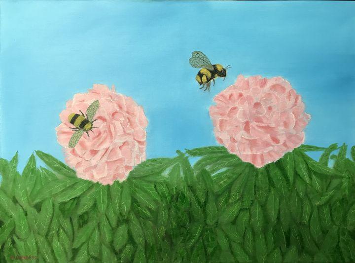SEARCHING FOR NECTAR - Leslie Dannenberg, Oil Paintings