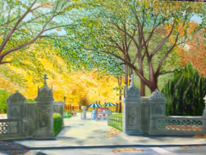 CENTRAL PARK FALL - Leslie Dannenberg, Oil Paintings