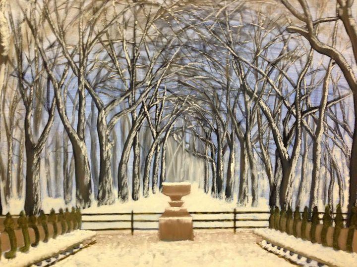 CENTRAL PARK WINTER - Leslie Dannenberg, Oil Paintings