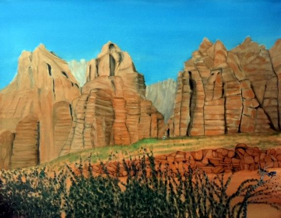 UTAH MOUNTAINS - Leslie Dannenberg, Oil Paintings