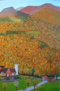 AUTUMN MOUNTAINS - Leslie Dannenberg, Oil Paintings
