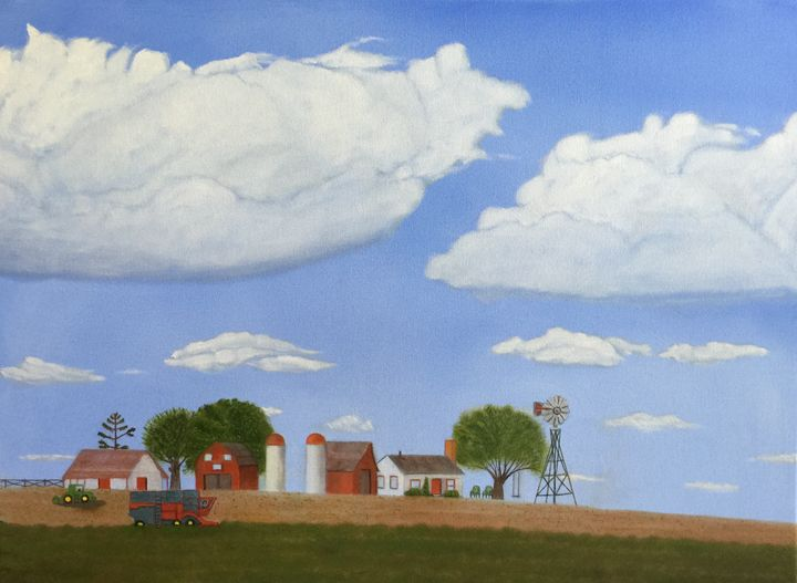 FARM III HARVEST - Leslie Dannenberg, Oil Paintings