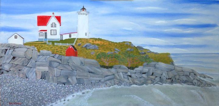 CAPE NUBBLE LIGHTHOUSE - Leslie Dannenberg, Oil Paintings