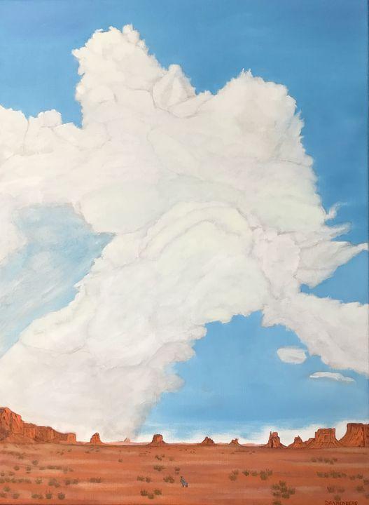 JACK RABBIT IN THE VALLEY - Leslie Dannenberg, Oil Paintings