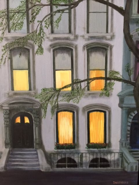 TWILIGHT EXTERIOR - Leslie Dannenberg, Oil Paintings