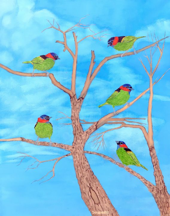 BIRDS OF A FEATHER 2 - Leslie Dannenberg, Oil Paintings