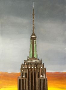 EMPIRE STATE BUILDING SUNRISE - Leslie Dannenberg, Oil Paintings