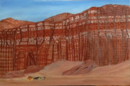 RED ROCK CANYON - Leslie Dannenberg, Oil Paintings
