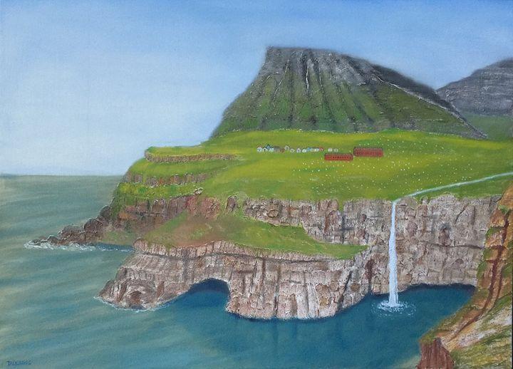 FAROE: ISLANDS OF THE SHEEP - Leslie Dannenberg, Oil Paintings