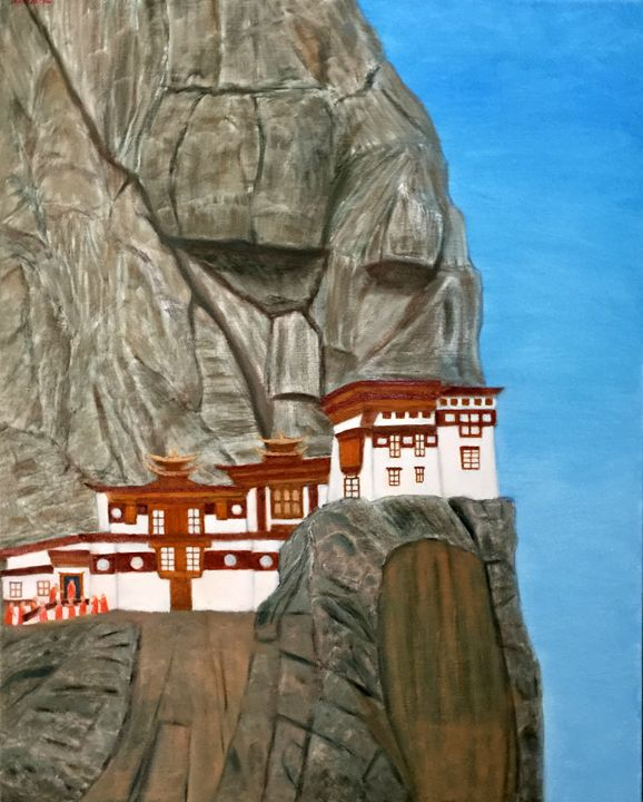 SECLUDED MONASTERY - Leslie Dannenberg, Oil Paintings